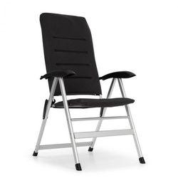 almagro fotel ogrodowy aluminium obicie piankowe, czarny marki Blumfeldt