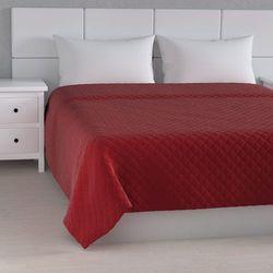 narzuta pikowana w romby, intensywna czerwień, szer.260 × dł.210 cm, velvet marki Dekoria