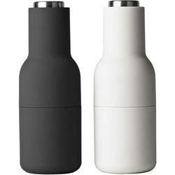 Młynek do pieprzu i soli bottle grinder 2 szt. szare / stal marki Menu