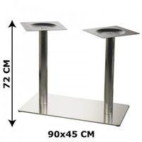 Podstawa stolika E24 podwójna, stal nierdzewna szczotkowana (stelaż stolika, stołu)