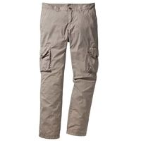 Lekkie spodnie bojówki regular fit straight  kamienisty marki Bonprix