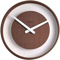 Zegar ścienny Nextime Wood Loop ciemny