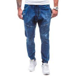 Spodnie męskie joggery  0425K granatowe - GRANATOWY, spodnie męskie ATHLETIC