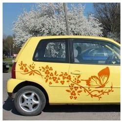 Wally - piękno dekoracji Szablon malarski kwiaty motyl 0900