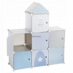 Szafka półki regał jak zamek niebiesko-szara marki Jja