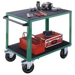 Wózek montażowy, 2 powierzchnie ładunkowe z tworzywa, pow. ładunkowa 1250x800 mm
