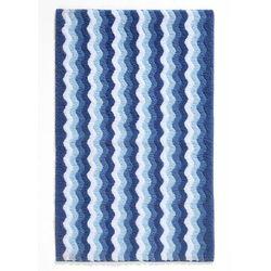 Dywaniki łazienkowe w falowane linie bonprix niebieski