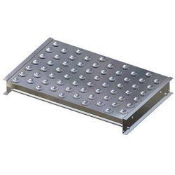 Stół kulowy, wys. konstrukcji 110 mm, szer. przenośnika 750 mm, dł. 500 mm, podz