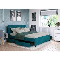 Łóżko 160x200 tapicerowane modena + 4 szuflady welur lazurowe marki Big meble