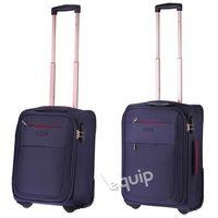 Zestaw walizek Puccini Camerino RyanAir + Wizzair - granatowy z kategorii Torby i walizki