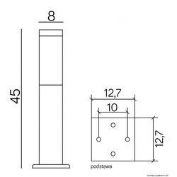 Su-ma Lampa inox kwadrat 450 czarna (5908310060385)