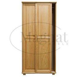 Magnat - producent mebli drewnianych i materacy Szafa drewniana 2d nr6 drzwi przesuwne wieszak s90