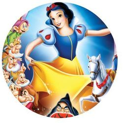 Dekoracyjny opłatek tortowy princess - księżniczki - 20 cm marki Smakop