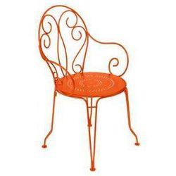 Krzesło ogrodowe w stylu francuskim Montmartre Fermob pomarańczowe