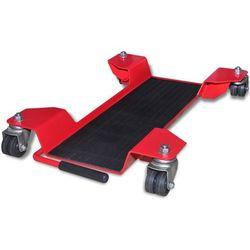 Vidaxl wózek motocyklowy podstawka centralna czerwony