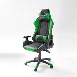 Mcracer fotel biurowy - czarny ||zielony marki Fato luxmeble