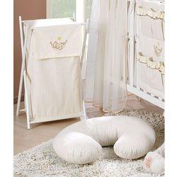 kosz na bieliznę śpioch w hamaku ecru marki Mamo-tato