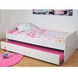 Łóżko wysuwane nolane – 90 × 190 cm – lakier matowy w kolorze białym marki Vente-unique