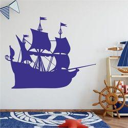 Naklejka na ścianę dla dzieci statek piracki 2278 marki Wally - piękno dekoracji