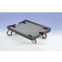 Wózek na rolkach, dł. x szer. 800x600 mm, nośność 450 kg. Z 2 rolkami skrętnymi
