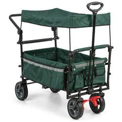 Waldbeck easy rider wózek transportowy z dachem do 70 kg drążek teleskopowy kolor zielony (4060656102387)