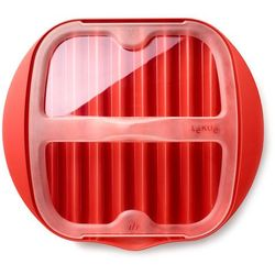 Naczynie do pieczenia plastrów boczku w kuchence mikrofalowej marki Lekue