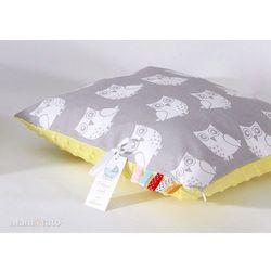Mamo-tato poduszka minky dwustronna 30x40 sowa szara / żółty