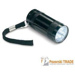 Aluminowa mini latarka 6 LED z zawieszką na rękę TEXAS w 3 kolorach