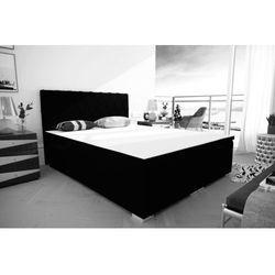 """Łóżko kontynentalne """"RIVIERA"""" 180x200 - antrazit"""