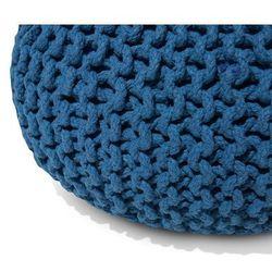 Puf 40 x 25 cm niebieski CONRAD