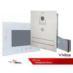 Vidos Zestaw jednorodzinny wideodomofonu. skrzynka na listy z wideodomofonem. monitor 7'' s551-skm_m670w