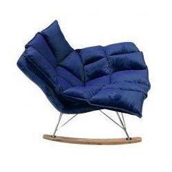Fotel bujany SWING VELVET ciemny niebieski - welur, stal chromowana, drewno dębowe, HE325B.HM8-49.DBLUE (9082427)
