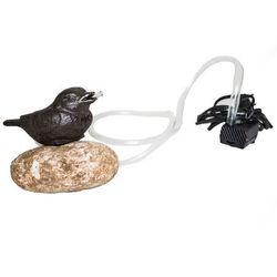Pompa żeliwna Ptaszek na kamieniu, 15 x 10 x 12 cm (8596265067626)