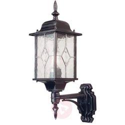 Elstead Zewnętrzna lampa elewacyjna wexford wx1 klasyczna oprawa ścienna kinkiet ogrodowy ip43 latarenka outdoor srebrna