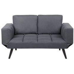 Sofa rozkładana tapicerowana ciemnoszara brekke marki Beliani