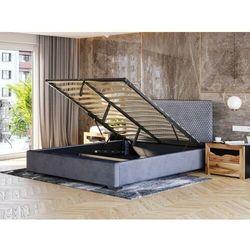 Łóżko tapicerowane do sypialni 160x200 sf090 popiel welur marki Meblemwm