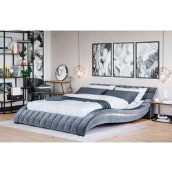 Łóżko z materacem tapicerowane 140x200 839 led welur popiel marki Meblemwm
