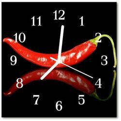 Zegar szklany kwadratowy papryczka chilli marki Tulup.pl