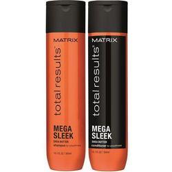 Matrix Total Results Mega Sleek - Zestaw wygładzający: Szampon 300ml + Odżywka 300ml - sprawdź w wybranym
