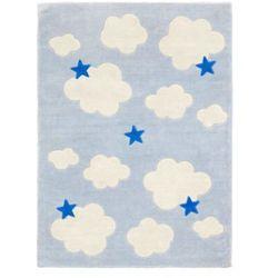 KIDS CONCEPT Dywan Abbey kolor niebieski z kategorii Dywany dla dzieci