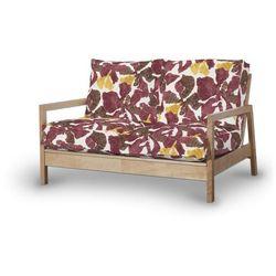 Dekoria Pokrowiec na sofę Lillberg 2-osobową nierozkładaną, żółto-brązowe kwiaty, Sofa Lillberg 2-osobowa, Wyprzedaż do -30%