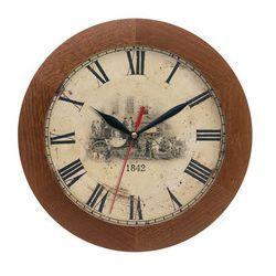 Zegar drewniany solid dyliżans, kolor Zegar