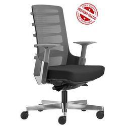 Fotel biurowy spinelly m 998b - czarny, wysuw siedziska + 21 kolorów siedziska. marki Unique
