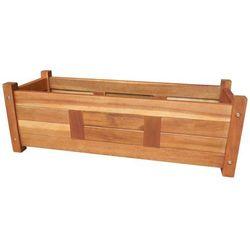 Vidaxl Donica ogrodowa, drewno akacjowe, 76x27,6x25 cm