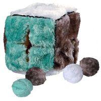 Trixie zabawki Trixie pluszowa kostka z piłeczkami z kocimiętką dla kota nr kat. 4104