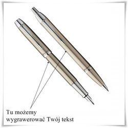 Zestaw długopis i pióro Parker IM Brushed Metal CT + opcja graweru, kup u jednego z partnerów