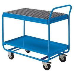 Eurokraft active green Wózek stołowy, z wanną wychwytową, rusztem kratowym i kurkiem spustowym, jasnoni