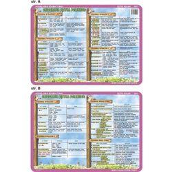 Podkładka edukacyjna Pisownia wyrazów z ch, h, rz, ż, ó, u, - z kategorii- pozostałe artykuły szkolne i plastyczne