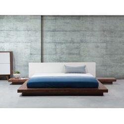 Łóżko wodne jasnobrązowe - 180x200 cm - materac wodny - ZEN