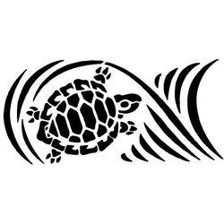 Szabloneria Szablon malarski z tworzywa, wielorazowy, wzór morski 2 - żółw